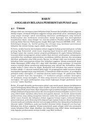 bab iv anggaran belanja pemerintah pusat 2011 - Direktorat ...