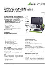 secutest siii+ - Fuchs Elektronik GmbH Online Shop