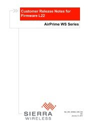 AirPrime WS Series Firmware L22 Customer Release Note