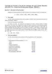 Correction de l'exercice 2 du quiz de rattrapage du cours Gestion ...