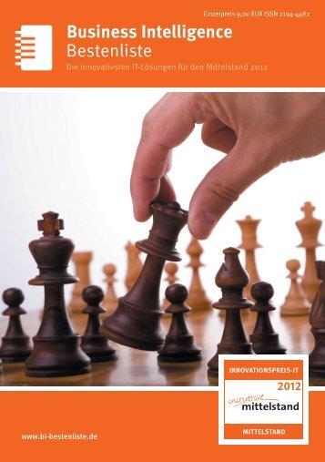 Bestenliste Business Intelligence - IT-Bestenliste