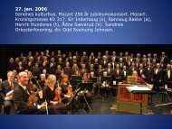 27. jan. 2006 Sandnes kulturhus. Mozart 250 år jubileumskonsert ...