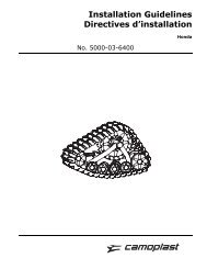 Installation Guidelines Directives d'installation - Camoplast