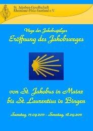 Faltblatt - St. Jakobus-Gesellschaft Rheinland-Pfalz Saarland