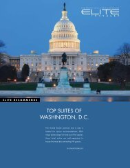 TOP SUITES OF WASHINGTON, D.C. - Elite Traveler