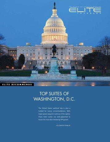 TOP SUITES OF WASHINGTON, D.C. - Elite Traveler