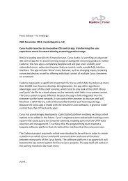 Press release – no embargo 26th November 2012 ... - Cision