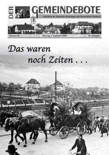 Ausgabe :Gomaringen 05.09.09.pdf - Gomaringer Verlag
