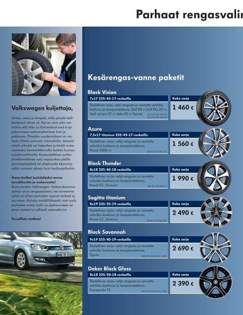 Pitoa ja käynnistys- voimaa talveksi. - Volkswagen