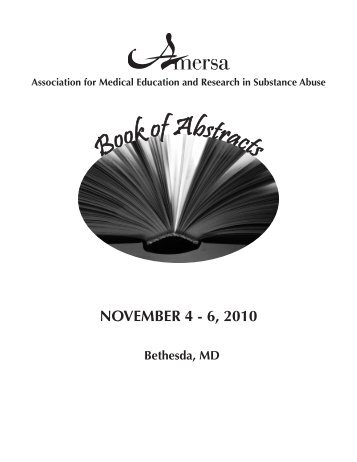 2010 Book of Abstracts - AMERSA