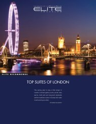 TOP SUITES Of LOndOn - Elite Traveler