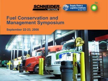 Fuel Conservation and Management Symposium