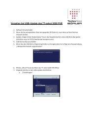 Vorgehen bei USB–Update des TT-select S550 PVR