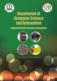 CSA brochure - Computer Science and Automation - Iisc.ernet.in
