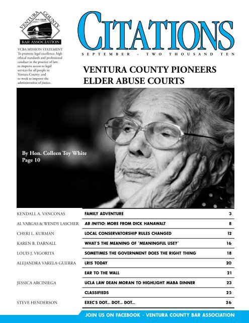 ventura county pioneers elder abuse courts - Ventura County Bar ...