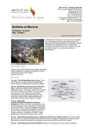 Bohême et Moravie - Arts et Vie