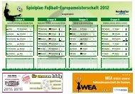 Spielplan Fußball-Europameisterschaft 2012
