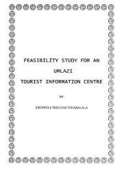 feasibility study for an umlazi tourist information centre - University of ...