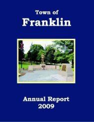 Town of Franklin Annual Report 2009