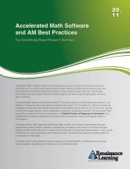 Accelerated Math Software and AM Best Practices - Renaissance ...