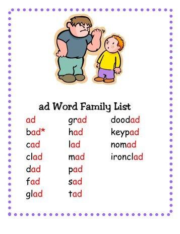 ay Word Family List - Little Book Lane