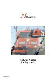 Railway Cables Rolling Stock - Nexans