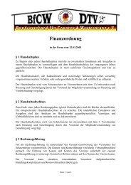 Finanzordnung - BfCW