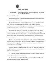 Human Rights Council Resolution 8/2. Optional Protocol to ... - CETIM
