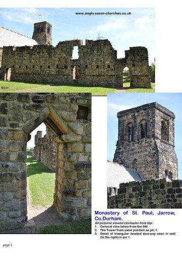 Monastery of St. Paul, Jarrow, Co.Durham.