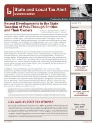 State and Local Tax Alert