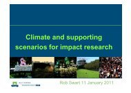 Climate and supporting scenarios for impact research - IS-ENES