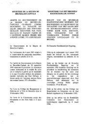 MIl\TJSTERE DE LA REGION DE BRUXELLES-CAPITALE ARRETE ...