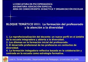 La formación del profesorado y la atención a la diversidad y la ...