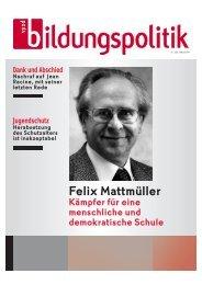 Bücher von Felix Mattmüller - vpod-bildungspolitik