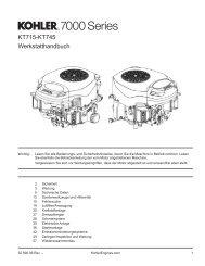 Werkstatthandbuch KT715-KT745 - Kohler Engines
