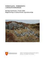 Registrering av kulturminner på Nordkvaløya - Troms fylkeskommune