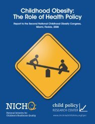 Childhood Obesity: The Role of Health Policy - Association of ...