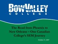 One Canadian College's SEM Journey - aacrao