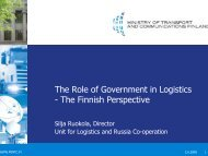 The Role of Government in Logistics - The Finnish Perspective