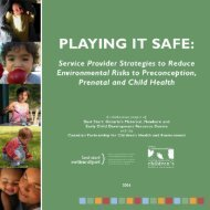 Playing It Safe - Canadian Environmental Law Association