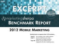 2012 Mobile Marketing Benchmark Report - meclabs