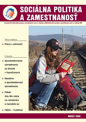 Marec 2006 - Ústredie práce, sociálnych vecí a rodiny