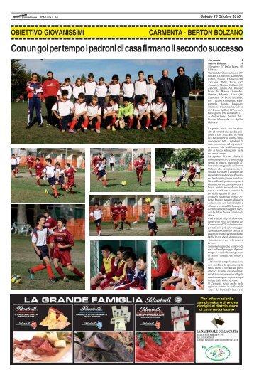 CARMENTA - BERTON BOLZANO - SPORTquotidiano