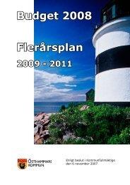 Budget 2008 Flerårsplan - Östhammars kommun