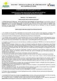 Convocação para Provas Escritas - OCB