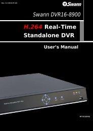 Swann DVR16-8900 H.264 Real-Time ... - MCM Electronics