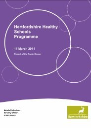 Hertfordshire Healthy Schools Programme 11 March 2011