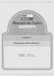 Preentrega y Mantenimiento - Ford Sierra Net