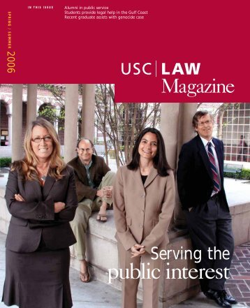 public interest - USC Gould School of Law - University of Southern ...