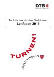 Leitfaden Gerätturnen 2011 - Schwäbischer Turnerbund